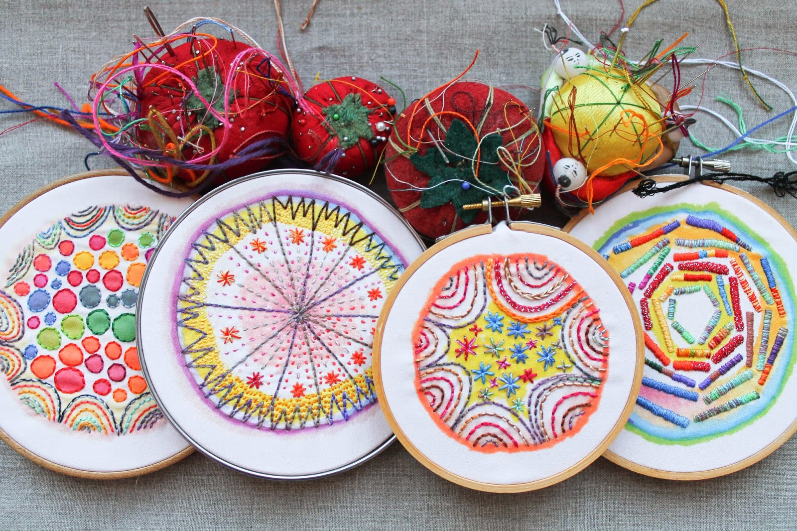 Drop cloth introducing color burst embroidery subscriptions