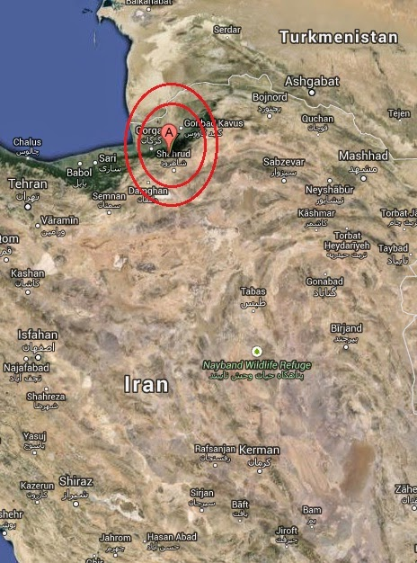 Magnitude 4.5 Earthquake of Shahrud, Iran 2014-09-06