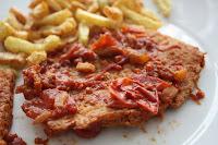 Bife de Soja com Tomate (vegana)