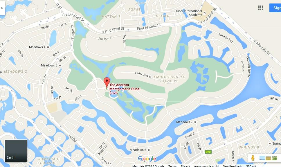 The Address Montgomerie Dubai Golf Course Map Dubai Tourists – Dubai Tourist Attractions Map