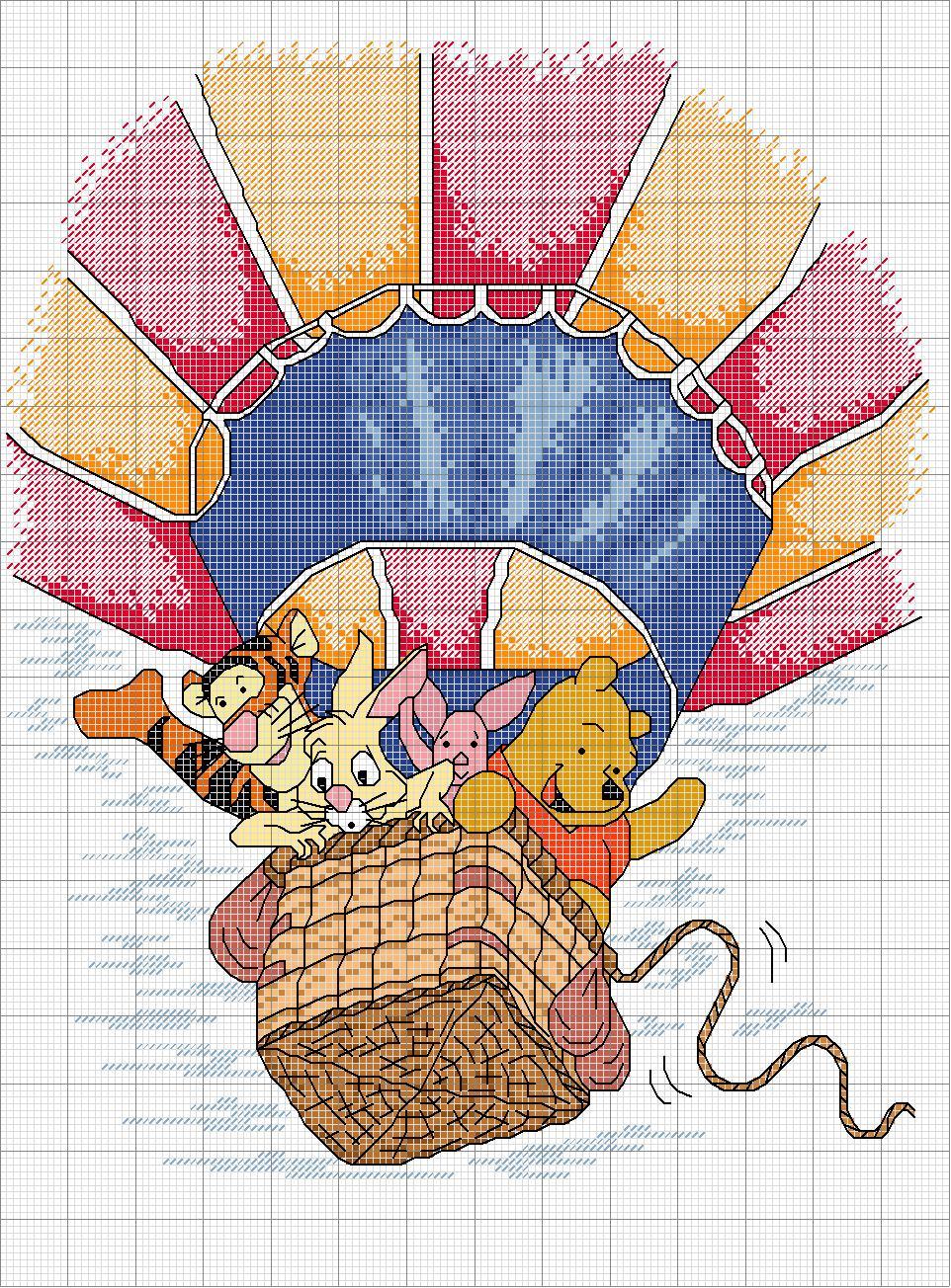 Fatti a mano di anna punto croce for Punto croce disney winnie the pooh