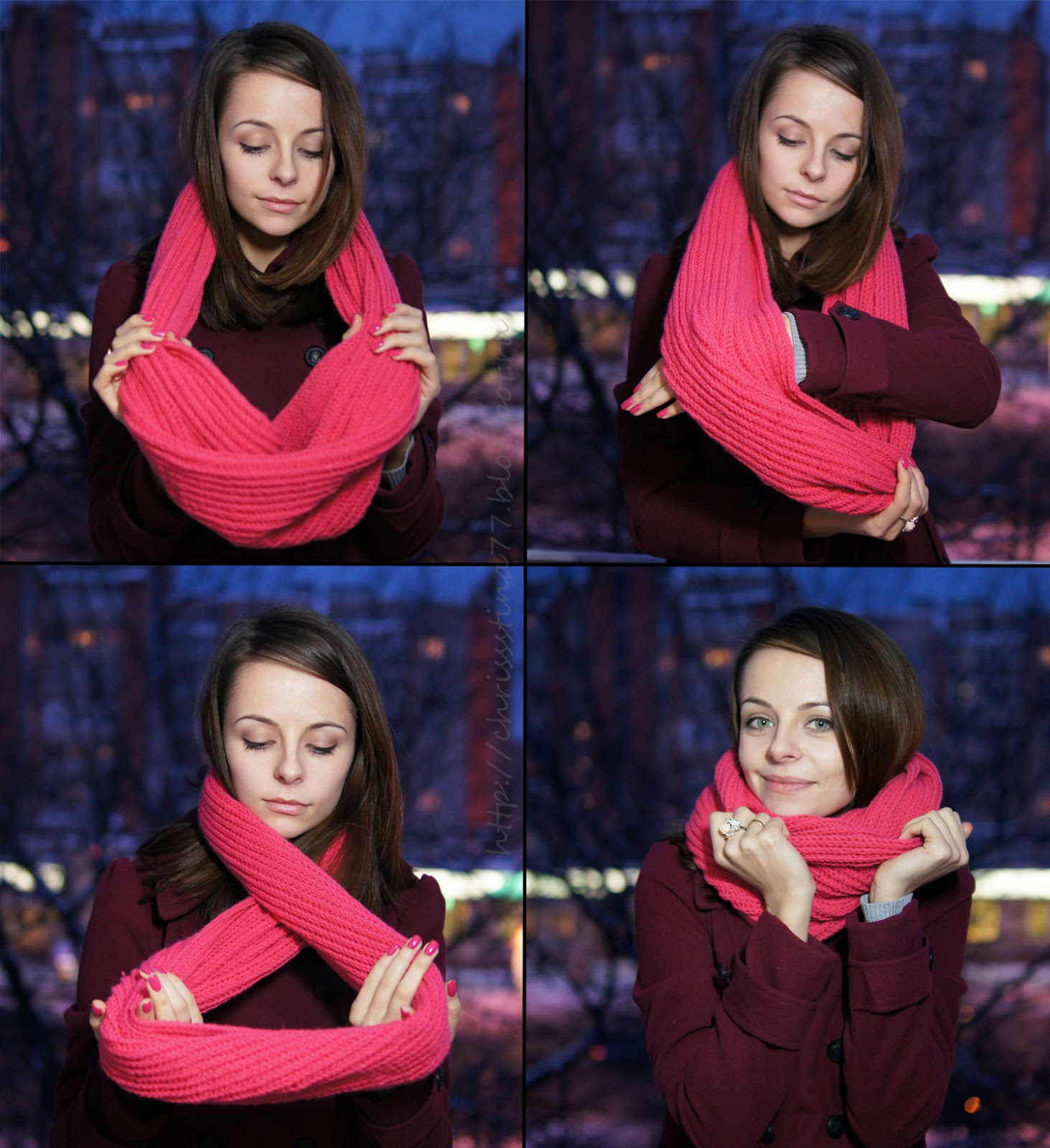 Как связать снуд хомут круговой шарф спицами схема вязания 355