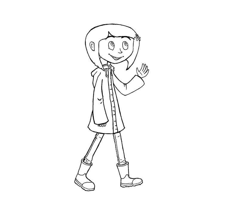 free coraline coloring pages - photo#10
