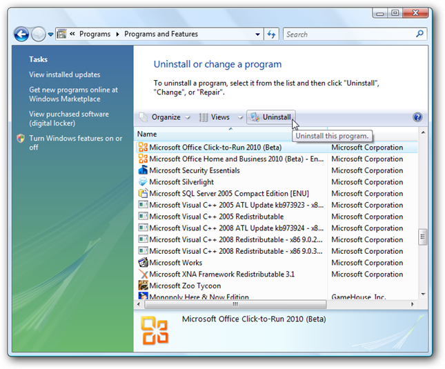 microsoft office uninstalled after update