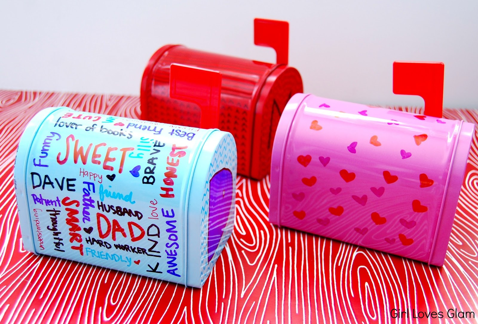 Sharpie Decorated Valentine S Day Mailboxes Girl Loves Glam