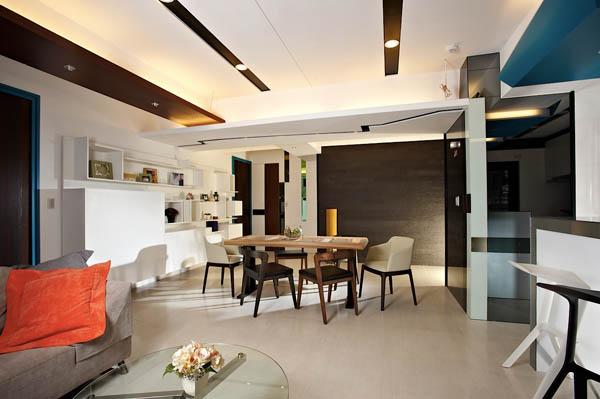 Hogares frescos moderno apartamento para solteros for Arquitectura departamentos modernos