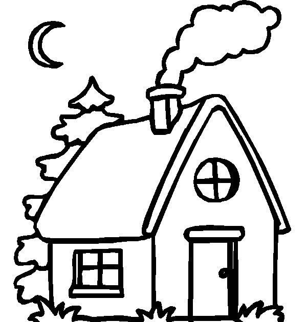 Los pitufos colorear y pintar dibujos - Para pintar casas ...
