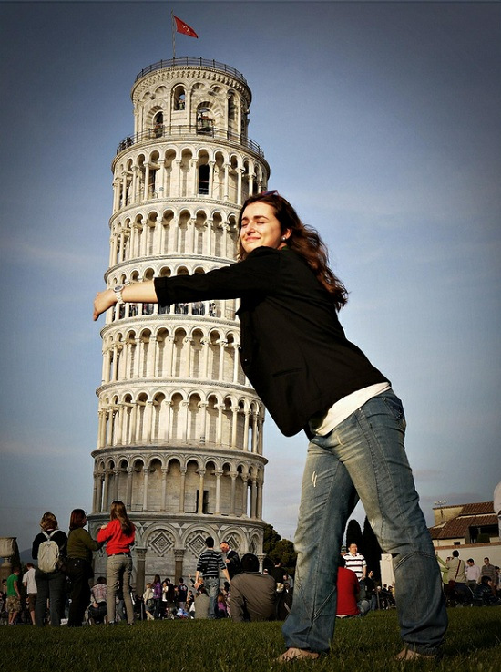 "Pisa, I Love You! ""Tower love you too, strange tourist."""