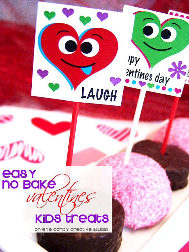 no bake treats, classroom party treats, no bake school treats for valentines