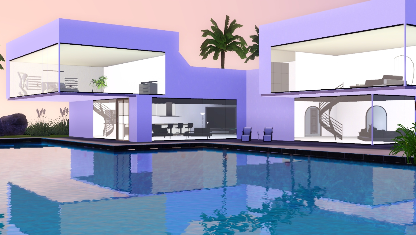 The sims giuly download e tutorial di the sims 3 modern house 04 - The sims 3 case moderne ...