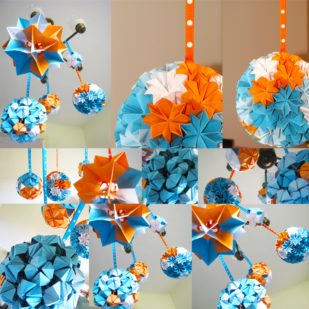 Boogie beans modular origami ball decorations for Decoration origami