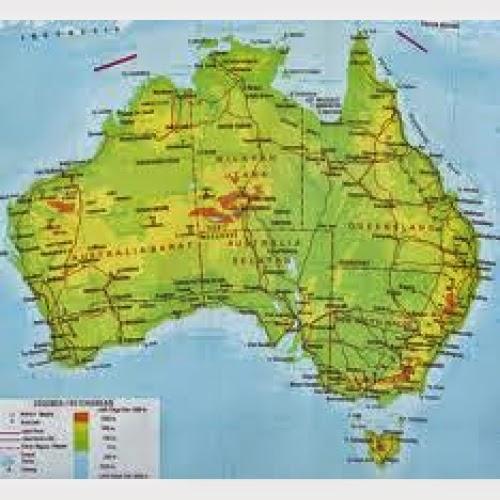 ... itu peta australia ketika ...
