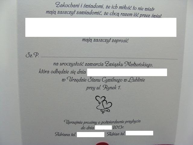Blog Blond Bunny Zaproszenia ślubne