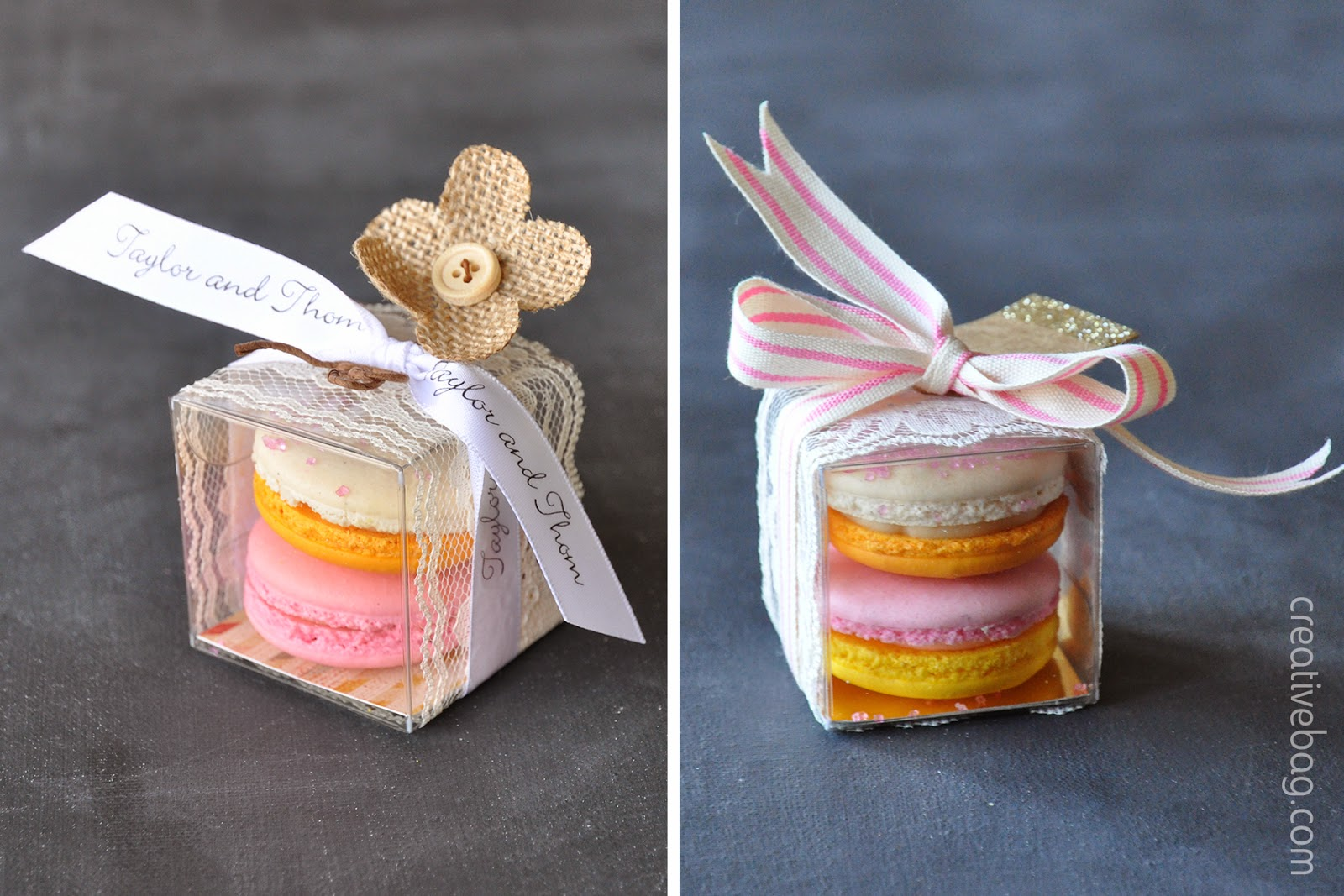 macaron packaging from CreativeBag.com | macarons from MoRoCocholate.com