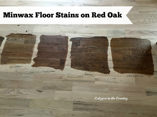 Minwax Floor Stains - Special Walnut, English Chestnut, Provincial and Early American