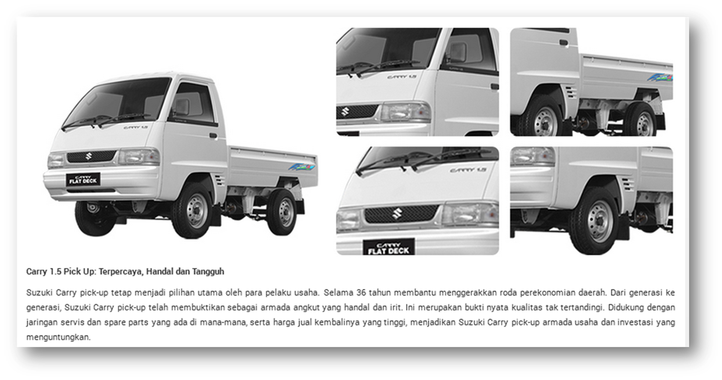SUZUKI CARRY 1.5 PICK UP EXTERIOR FEATURE