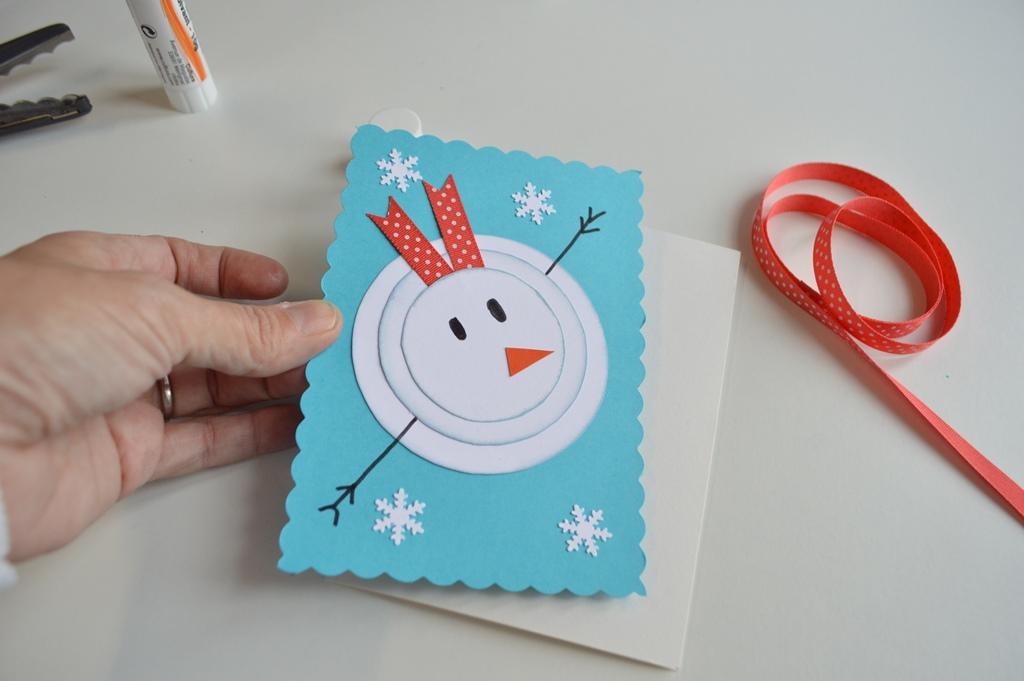 Postal de navidad de mu eco de nieve elenarte - Postal navidena infantil ...