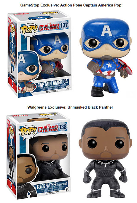 Captain America Civil War Pop Vinyls Dorbz From Funko