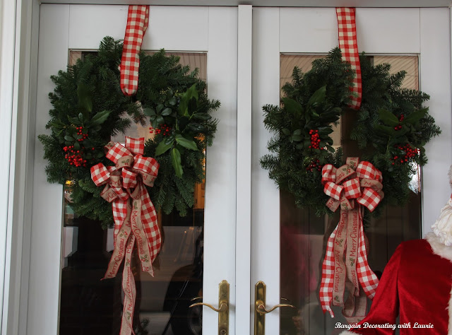 Christmas on the Doors-Bargain Decorating with Laurie