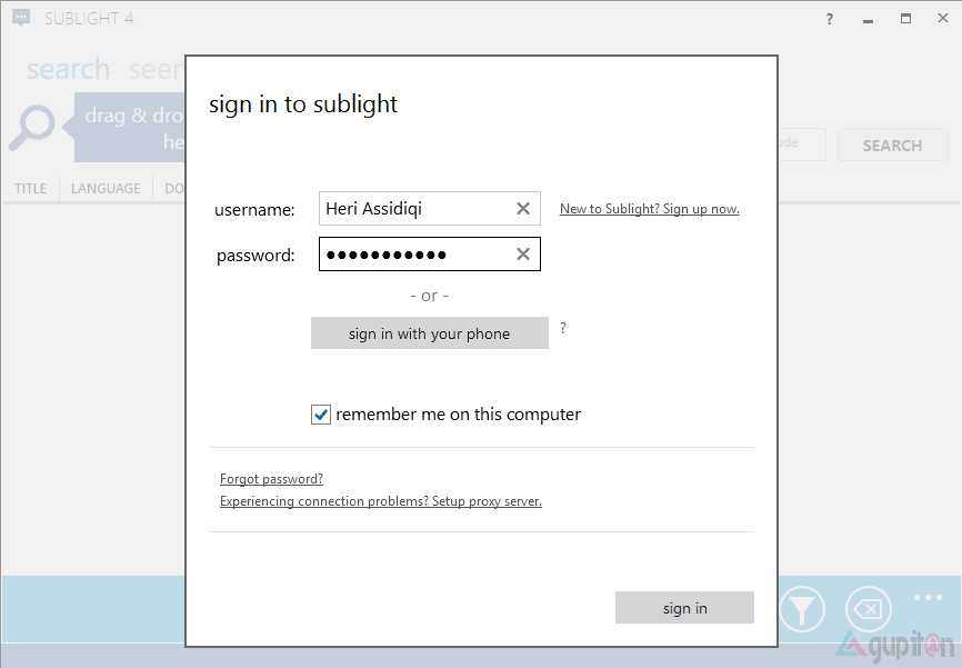 Sublight Subtitle Downloader Gratis untuk Windows 1