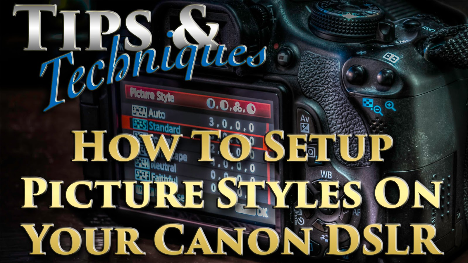 Learn How To Setup Picture Styles On Your Canon DSLR Camera