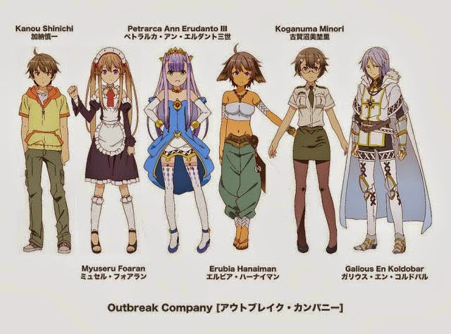 Outbreak Company Character
