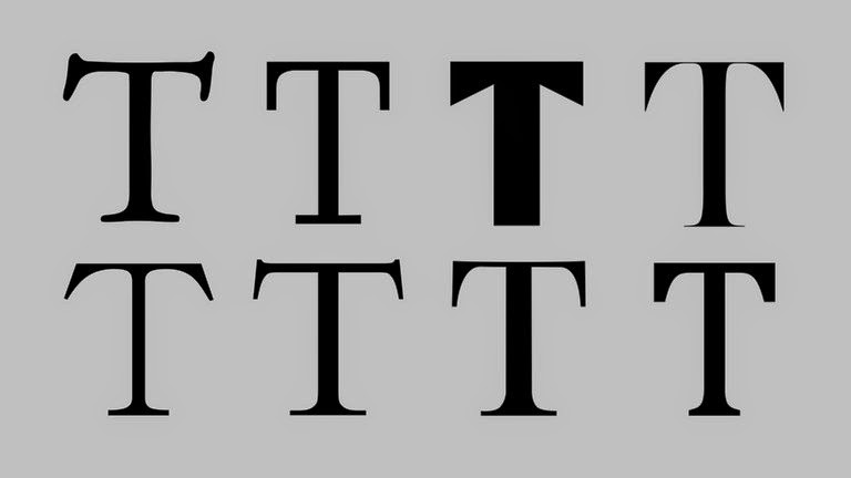 "Different versions of serif ""T"" letter"