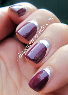 Silver and Dark Purple Ruffian Manicure - Take Two Nail Art Challenge