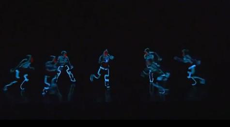 Fascinante Coreografia con efectos luminosos estilo TRON