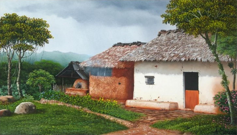 Pintura moderna y fotograf a art stica paisajes - Paisajes de casas ...