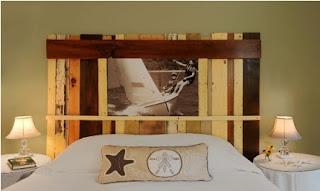 cabeceira cama madeiras recicladas