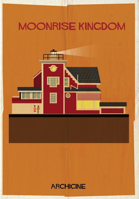 {Art} Architecture in film: Archicine by Frederico Babina | Rue du chat qui peche | Monrise kingdom