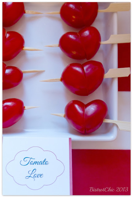 Love is in the Air Party tomato hearts featured in Pizzazzerie from BistrotChic