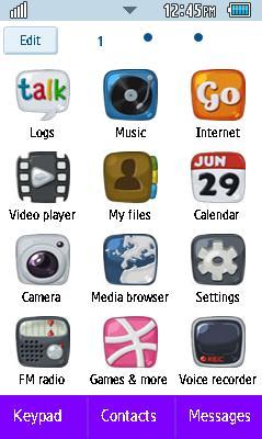 Samsung GT-C6712 Naruto Theme Free Download Menu