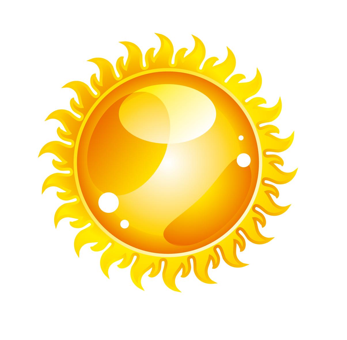 輝く太陽のクリップアート light flame sun icons イラスト素材2
