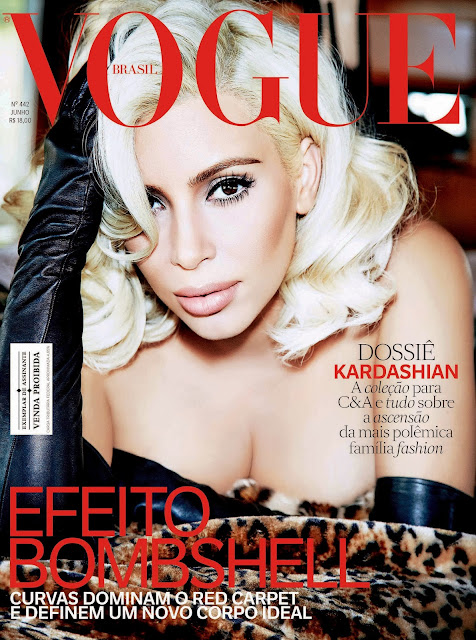 Singer, Television Personality, Socialite, Model @ Kim Kardashian for Vogue Brazil, June 2015