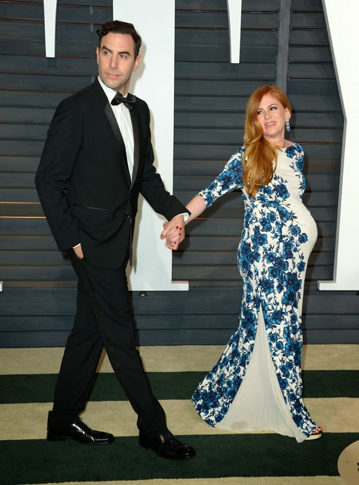 Isla Fisher - 2015 Vanity Fair Oscars Party in Hollywood