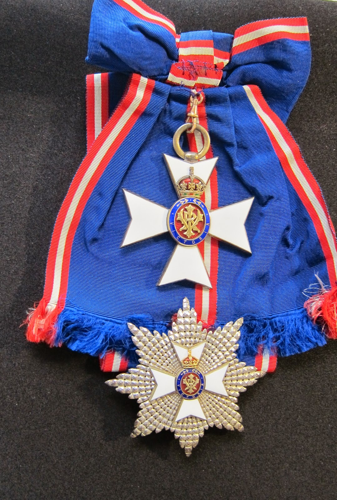 G.C.V.O. sash badge and  breast star  (British Medals website)