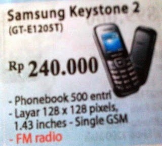 harga Samsung Keytone 2