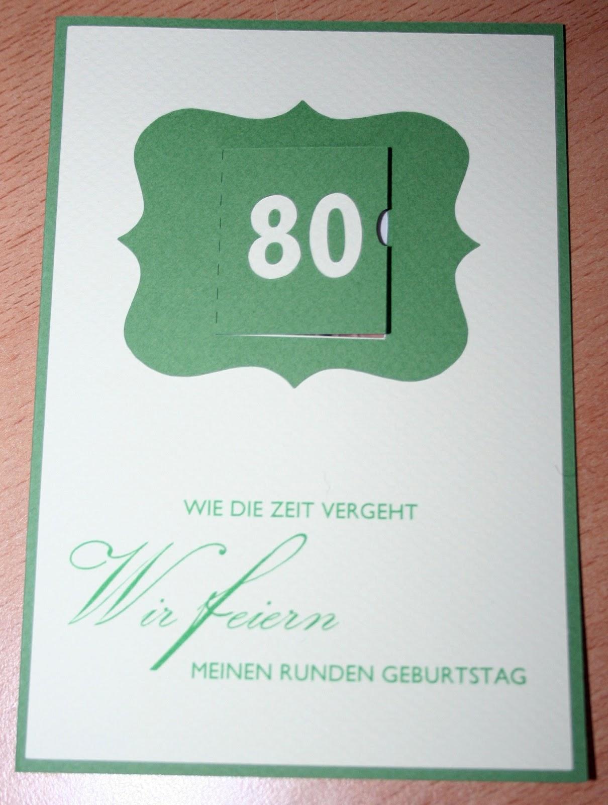 Blumis kreativ Blog: Einladung zum 80. Geburtstag