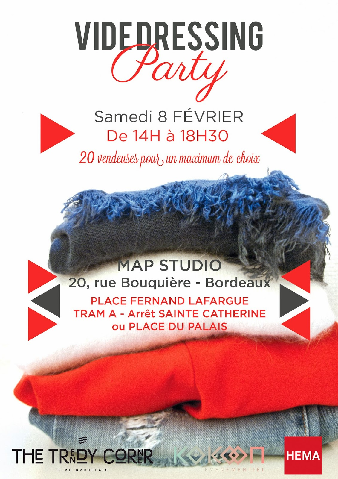 Pssssstttt : Y a Vide Dressing Party , le 8/02 sur Bordeaux ;-)