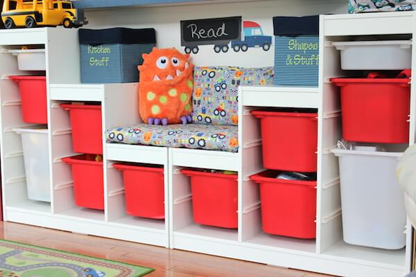 5 Ways To Organize Your Playroom: large toy storage ideas