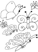 Pillangós színező
