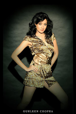 Gurleen Chopra Hot Spicy Leg Show Photoshoot Stills
