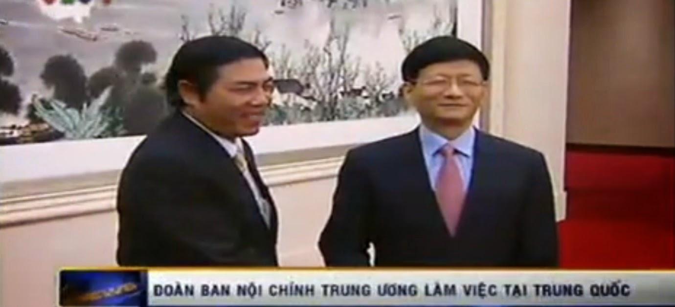 Trưởng ban Nội chính Nguyễn Bá Thanh tại Bắc Kinh, Trung