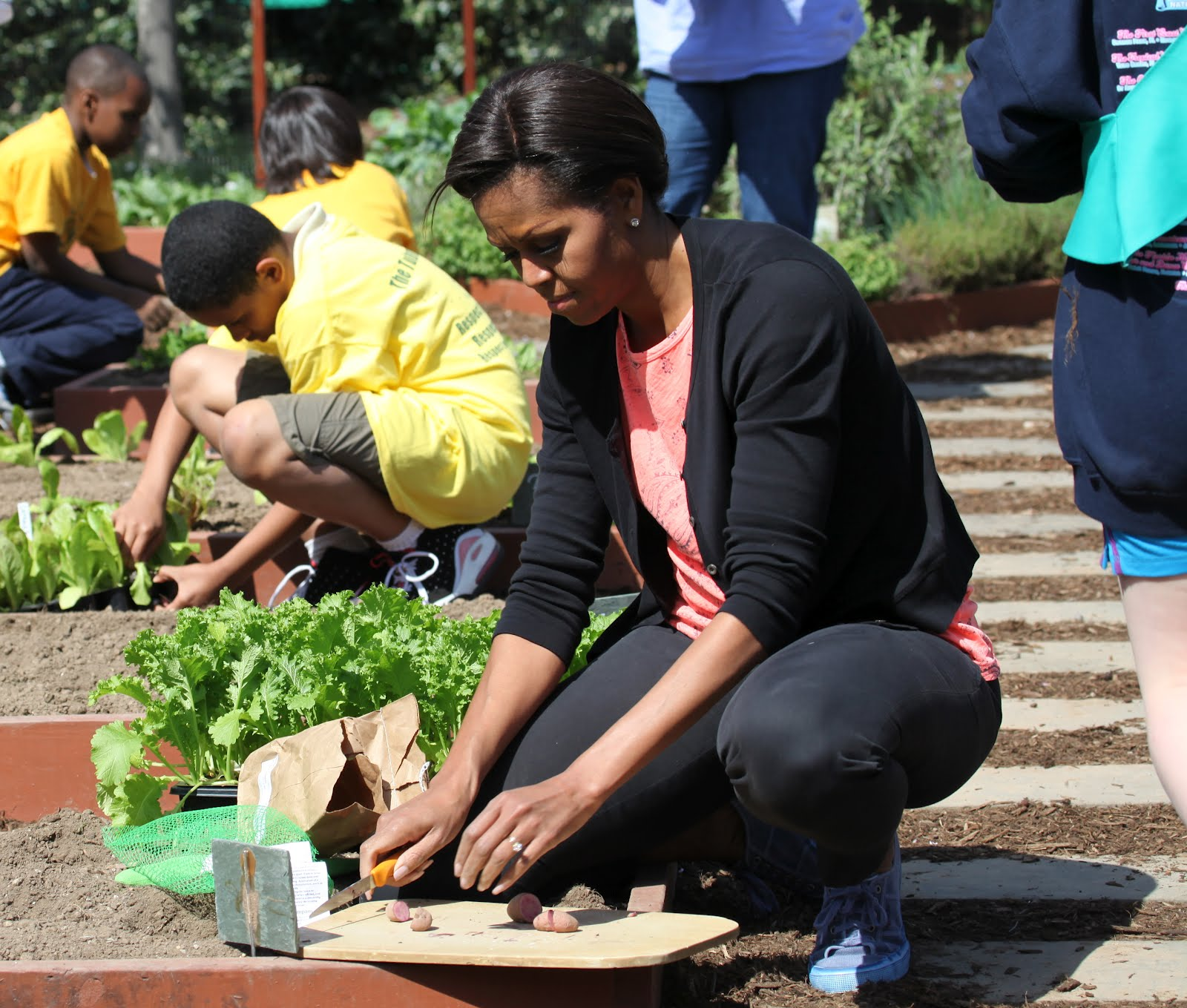 Michelle Obama Kitchen Garden White House Easter Egg Roll 2012 Transcript Video First Lady