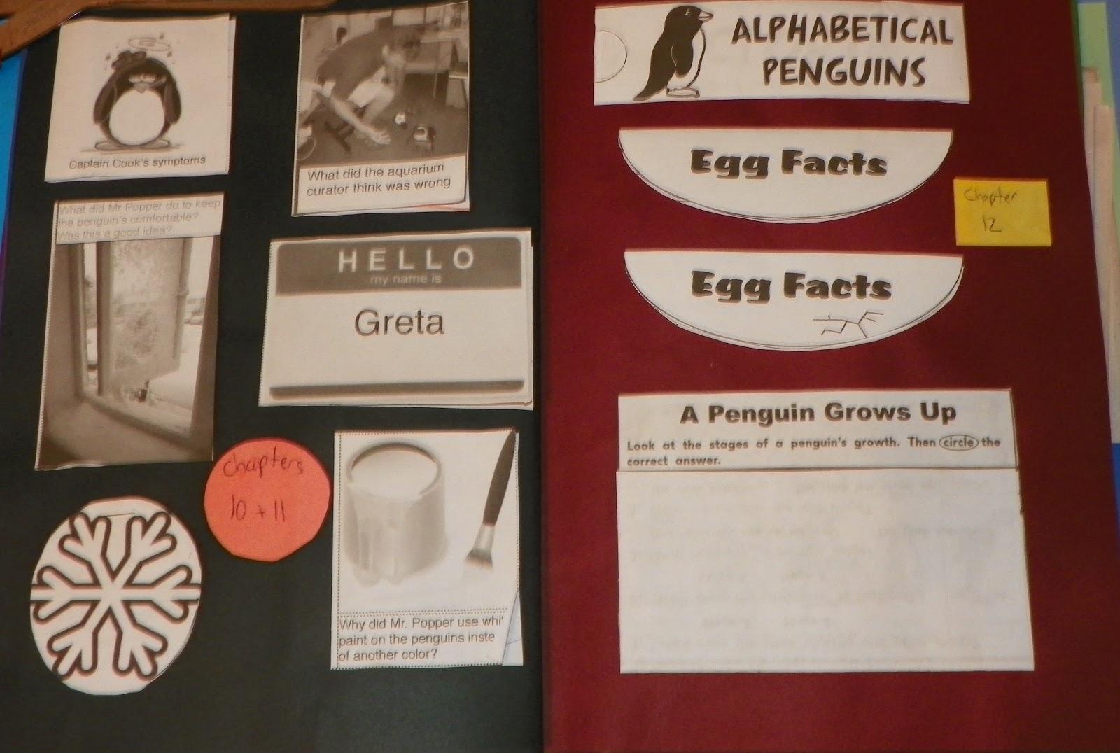 The Little Sewing Shop: Mr. Popper\'s Penguins Lapbook