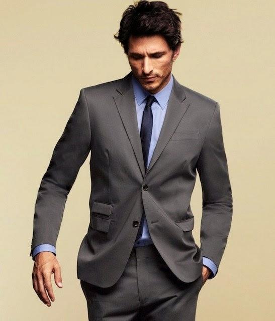 traje hombre tradicional gris