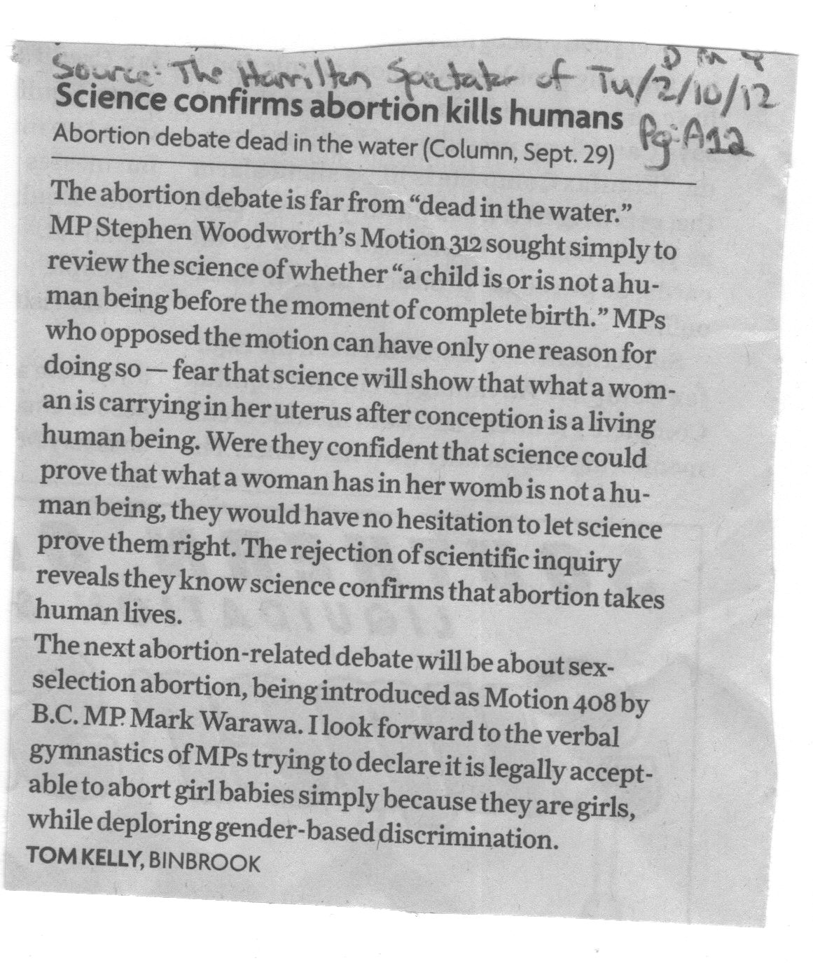 pro choice letter to the editor The article judge blocks fetal heartbeat abortion ban (web, july 22) includes a report on a personhood amendment passed by the north dakota legislature that voters will decide on in november 2014.