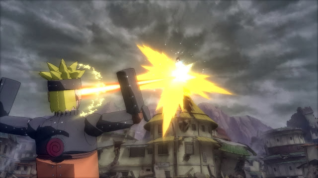 Mecha Naruto Eye Beam Attack